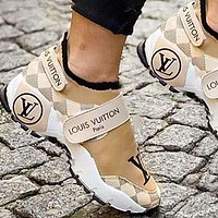 Louis Vuitton Women Shoes Velcro Toes Letters With Shoes Tail Letters Sneakers-1
