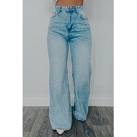 Hold Your Own Wide Leg Jeans: Denim