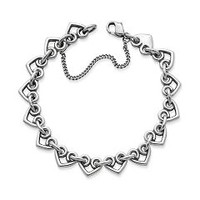 Heart Link Charm Bracelet | James Avery