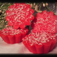 Strawberry Shortcake Scented Scalloped Soy Tarts Free shipping