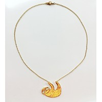 Golden Sloth Necklace