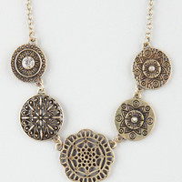 FULL TILT Filigree Disc Statement Necklace | Necklaces