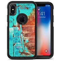 Bright Turquise Rusted Surface - iPhone X OtterBox Case & Skin Kits