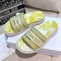 Dior early spring new jacquard embroidery sandals