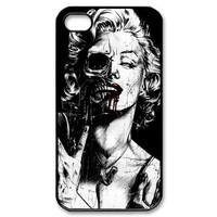 FashionFollower Zombie Marilyn Monroe iPhone 4/4s Case Hard Protective iPhone 4/4s Case Black and White IP4WN62608