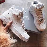 NIKE Air Force Classic Stylish Women Men Casual High Tops And Low Help Running Sport Shoes Sneakers High Quality I/A