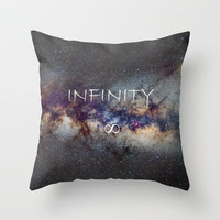INFINITY STARS IN THE MILKY WAY ∞ Throw Pillow by Guido Montañés | Society6