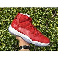 Air Jordan Retro 11 Xi High Gym Red Chicago White Men Basketball Shoes Women Sports Sneakers New Trainers With Box Size 5.5-13
