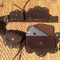 Festival Belt Bag | Leather Utility Belt | Steampunk Hip Purse  - LOTUS
