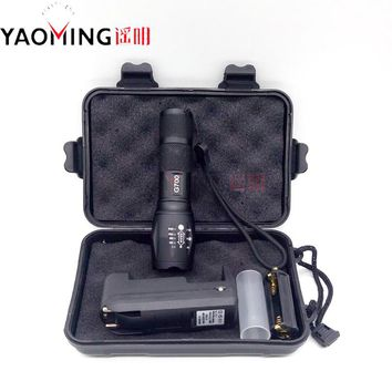 Gift Box CREE XML T6 3800LM Tactical Led Flashlight Powerful Rechargeable Led Lamp Torch Lantern Police Light By 18650 3 x AAA