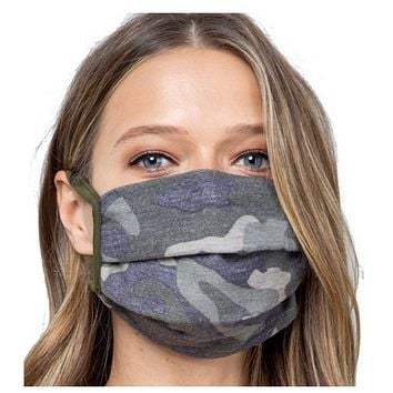 Keeping it Fashionable - Green Camouflage Face Masks - Covid 19