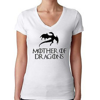 Mother Of Dragon Game Of Thrones Women's Sporty V Shirt