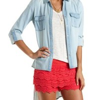 High-Low Button-Up