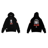 """""""Aape"""" Unisex Casual Fashion Letter Pattern Astronauts Long Sleeve Hooded Sweater Hoodie Tops"""