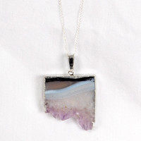 Slice of Amethyst Necklace | JEWELRY Necklaces | BOGATTE