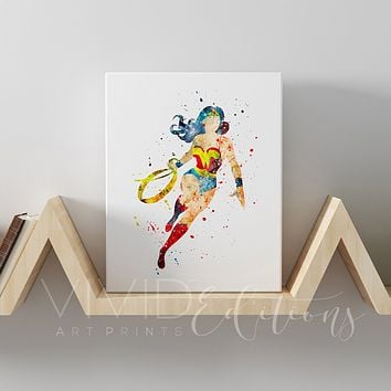 Wonder Woman Gallery Wrapped Canvas