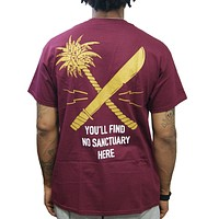 Undefeated Sanctuary Pocket Tee In Maroon