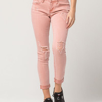 ZCO Destructed Roll Cuff Womens Jeans   Ankle