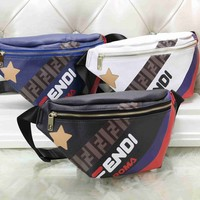 """FENDI"" Fashion Letter Embossed Jelly Bag Pocket Chain Messenger Bag Women Sport Solid Color Small Square Bag"