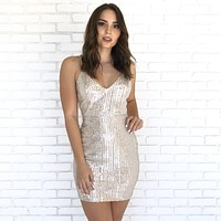 Shine All Night Sequin Dress