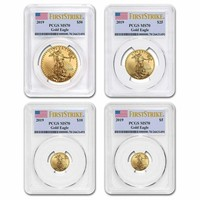 2019 4-Coin Gold American Eagle Set MS-70 PCGS (First Strike)