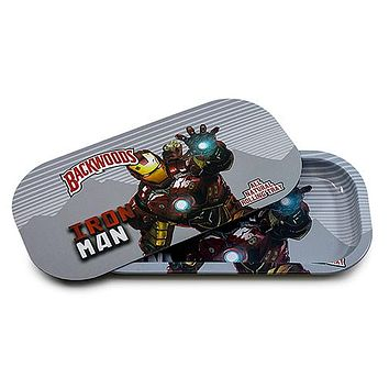 Metal Rolling Tray w/ Magnetic Lid - Metal Man