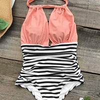 Cupshe Surprise Party Halter One-piece Swimsuit