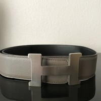 100% Authentic Hermès Constance Two tone belt 90