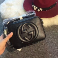 """Gucci"" Women Simple Fashion Classic Logo Embossed Tassel Zip Camera Bag Single Shoulder Messenger Bag"