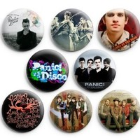"Panic At The Disco Pinback Buttons Pins Badges 1.25"" 8 Pcs"
