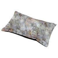 Multi-colored Iridescent Marble with Gold Veins Dog Bed