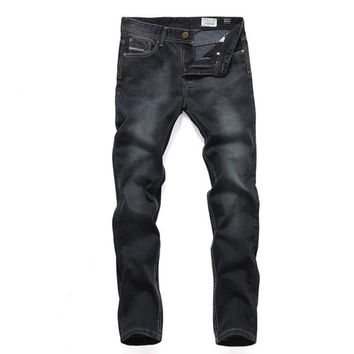 Men Black Slim Jeans [6528464451]