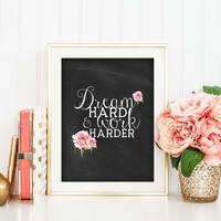 Typography Print, Inspirational Art Print, Chalkboard, Motivational Quote, Rustic Chic, Home or Office Decor, Inspirational Poster, SKU:030