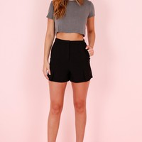 Classic High Waisted Shorts - Black