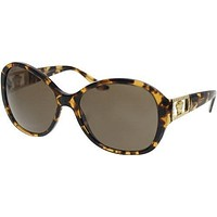 Versace VE4241B Sunglasses-998/73 Amber Havana (Brown Lens)-58mm