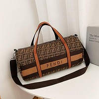 LV Louis Vuitton FENDI Hot Sale Classic Canvas Embroidered Letters Large Capacity Shoulder Bag Messenger Bag Luggage Bag Travel Bag