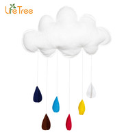 Children Teepees Kids Play Tent Decoration Tent Props Toy Raining Clouds Water Drop Baby Bed Hanging Toys Boy Girl kids Room