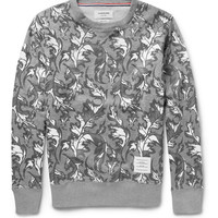 Thom Browne - Leaf-Print Cotton-Jersey Sweatshirt | MR PORTER