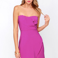 Sweet Moves Magenta Strapless Dress