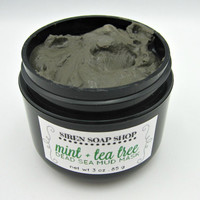 Mint Tea Tree Dead Sea Mud Mask, Dead Sea Mud, Peppermint, Tea Tree, Acne