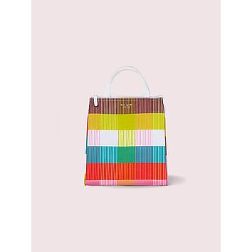 Rainbow Plaid Lunch Bag | kate spade new york