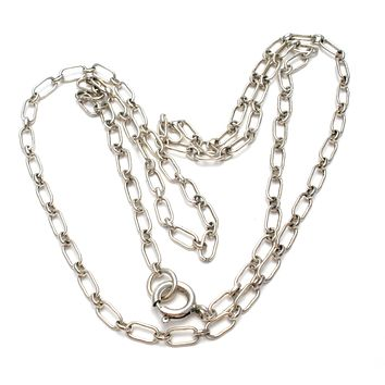 Sterling Silver Link Necklace 22""
