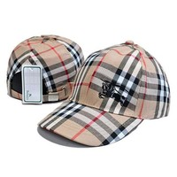 DCCKV3X Burberry Fashion Embroidery Adjustable Travel Hat Sport Cap
