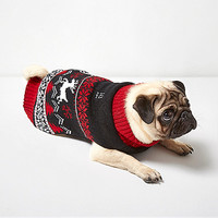 Red RI Dog Christmas knit sweater - dog clothing & accessories - women
