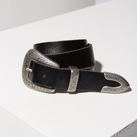 Ecote Metal-Tipped Leather Belt | Urban Outfitters