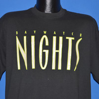 90s Baywatch Nights Glow In The Dark t-shirt Extra Large