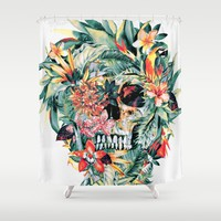 MOMENTO MORI V Shower Curtain by RIZA PEKER
