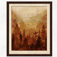 Over The Misty Mountains Cold - The Hobbit Quote Poster - Dwarves Song 8x10