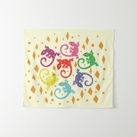Colorful Lizards Tapestry