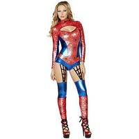 Sexy Spider Man Romper Girl Halloween Costume